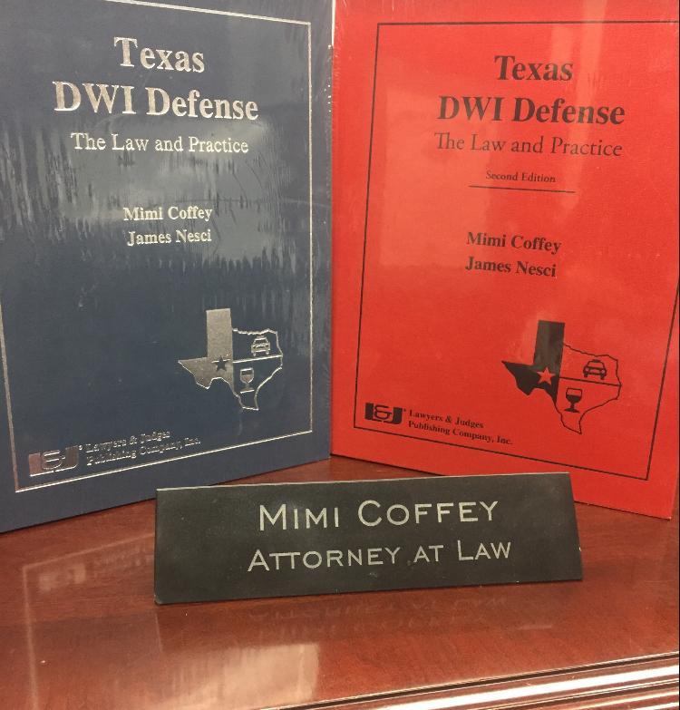 Mimi Coffey DWI Lawyer, Texas DWI, Mimi Coffey's two publishing's