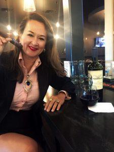 Mimi Coffey DWI Lawyer, Mimi Coffey enjoying a glass of wine